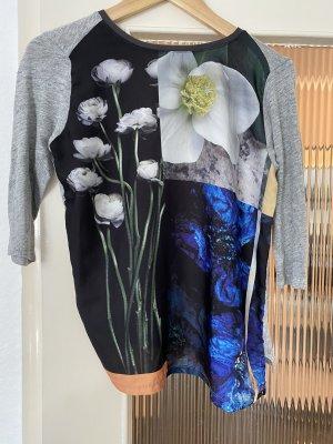 Zara Blouse à manches longues gris clair