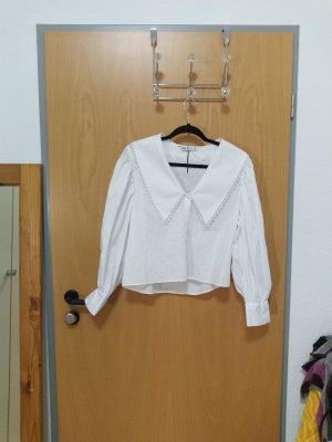 Zara Cols de blouses blanc