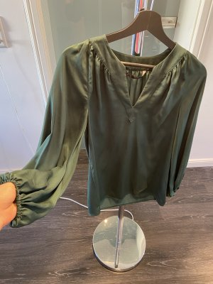 Zara Long Sleeve Blouse forest green