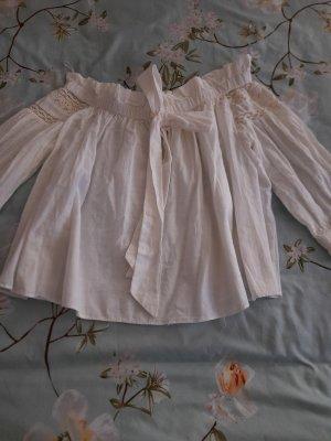 Trf by Zara Lniana bluzka biały