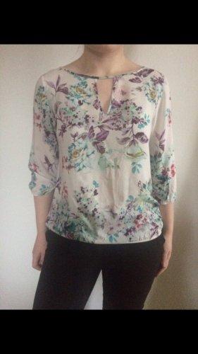 Bluse von Zara Grösse L Blumen floral Baumwolle