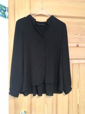 Bluse von Zara Grösse S schwarz Plissee