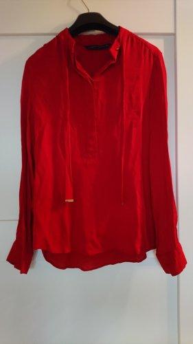 Bluse von ZARA in der aktuellen Trendfarbe ROT - Gr. S