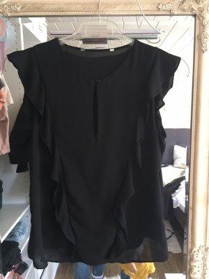 Zara Blouse à manches courtes noir