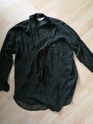 Bluse von Zara, leo Print, neu, gr.S, 36, grün