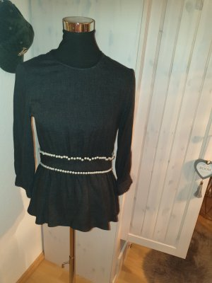 Bluse von Zara mit Perlen bestückt