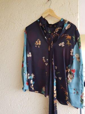 bluse von zara mit Schleife bunt