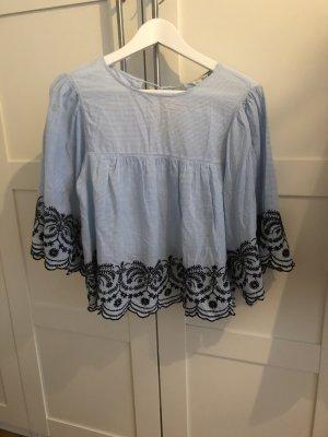 Bluse von Zara mit Spitze