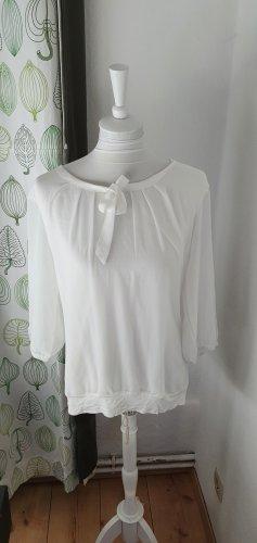 Zero Tie-neck Blouse white