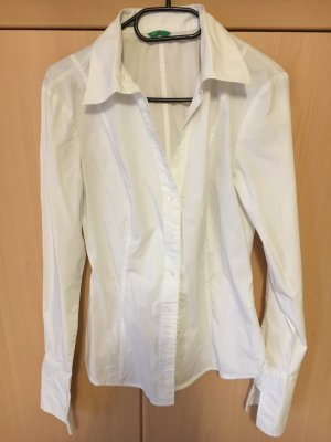 Benetton Stand-Up Collar Blouse white