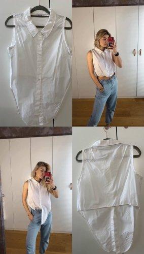 Bluse weiß ärmellos