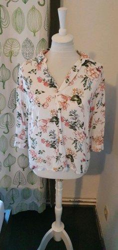 Bluse weiß floral