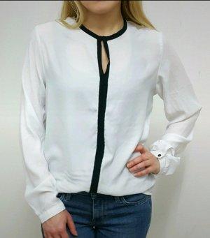Bluse weiß Gr. 36 businessbluse Schwarz edel Business Shirt