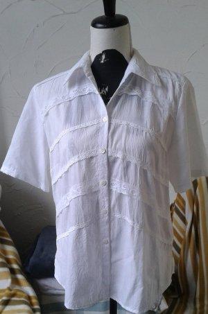 Mouwloze blouse wit