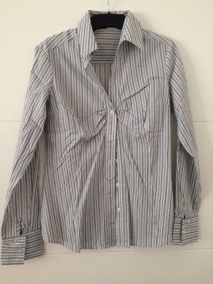 Bluse weiß/grau gestreift Gr. 38 *NEU* Esprit Collection