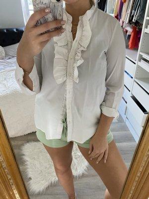 Bluse weiß rüschen