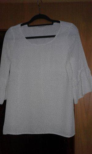 Bluse weiß schwarz gepunktet Gr. 38