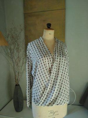 Bluse, Wickelbluse, hinten länger, Baumwolle, Gr.38