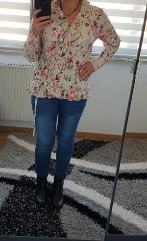 Bluse Wickelbluse Vila Gr. L (40) bis 80D Tunika Volants locker Neu