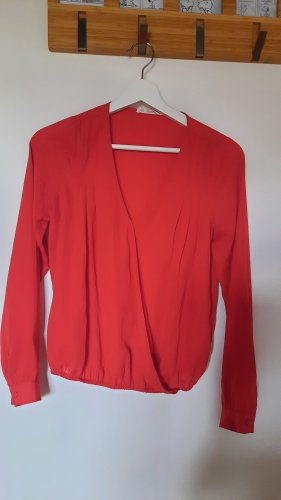 24 colours V-hals shirt donkerrood