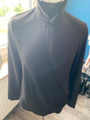 H&M Blouse portefeuille noir polyester