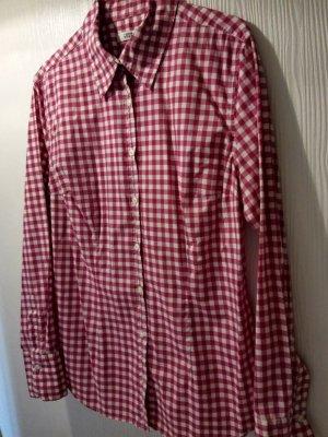0039 Italy Blouse-chemisier magenta-rouge framboise coton