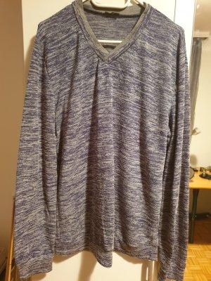 Calliope V-Neck Shirt grey-dark blue