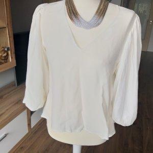 Zara Basic Slip-over Blouse natural white