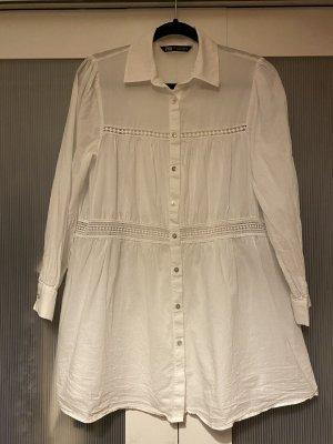 Zara Długa bluzka biały