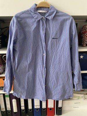 Bluse zara Business gestreift oversize blau