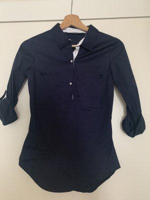 Zara Tie-neck Blouse dark blue