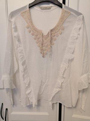 Zara Transparent Blouse white