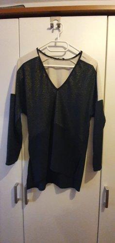 Zara Trafaluc T-shirt col en V bleu foncé