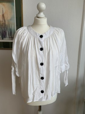 Zara Short Sleeved Blouse white-black