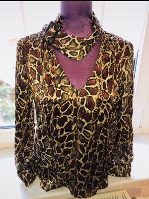 Bluse Zara Schlange Blogger New Vintage