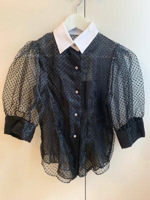 Bluse Zara schwarz transparent