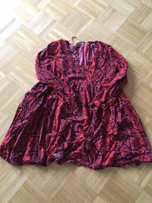 Zara Woman Bluzka oversize czarny-czerwony