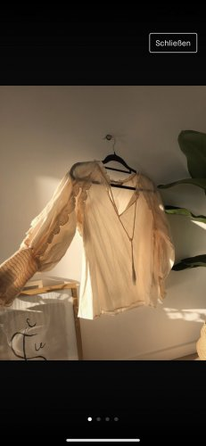 Bluse Zara zart Pastell Nude M