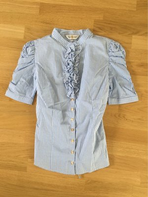 Almsach Traditional Blouse white-azure