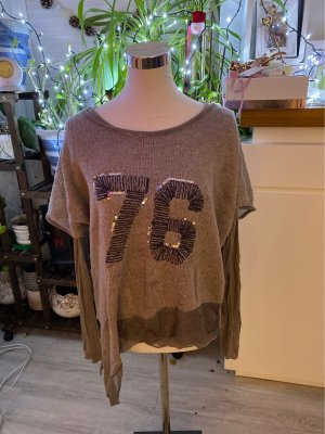 Inserción de blusa marrón grisáceo