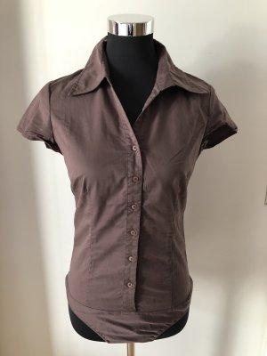 Hallhuber Bodysuit Blouse light brown