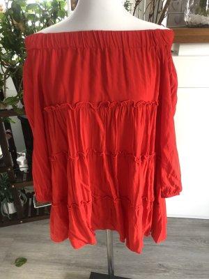 Empiècement de blouses rouge