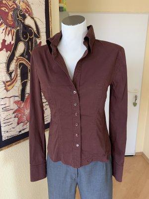 René Lezard Cols de blouses brun rouge