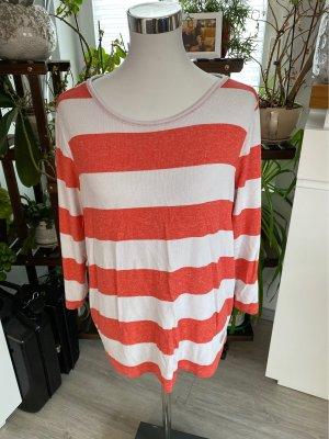 Inserción de blusa blanco-rojo