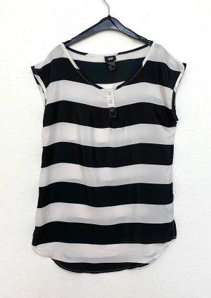 H&M Summer Scarf black-white
