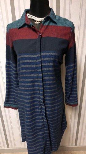 Długa bluzka niebieski Bawełna