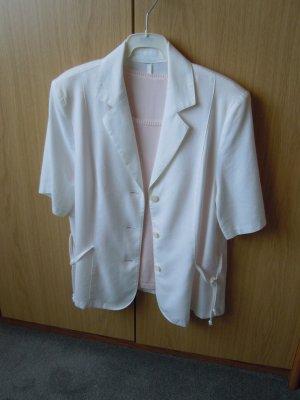 Blusen-Jacke weiß Gr. 40 Baumwolle/Leinencharakter