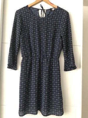H&M Blouse longue bleu-blanc