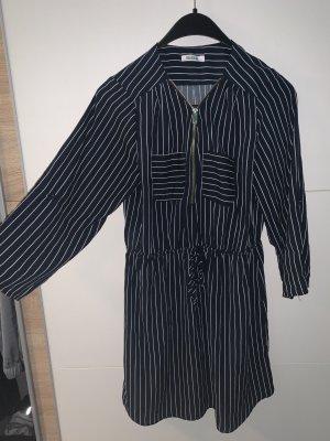 Colosseum Blouse Dress dark blue-white
