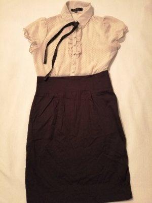 New York & Company Robe chemisier noir-crème